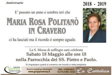 Maria Rosa Politanò in Cravero