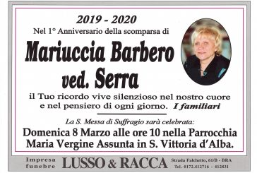 Mariuccia Barbero ved. Serra