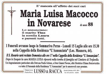Maria Luisa Macocco in Novarese