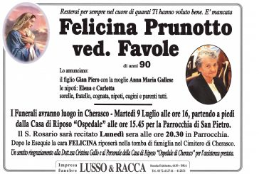 Felicina Prunotto ved. Favole
