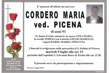 Maria Cordero ved. Picena
