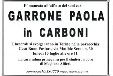 Paola Garrone in Carboni