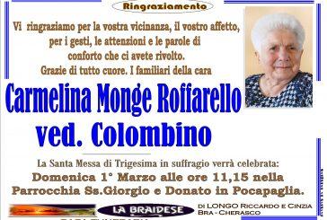 Carmelina Monge Roffarello ved. Colombino