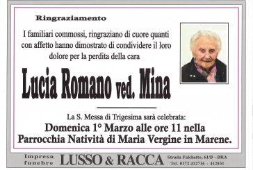 Lucia Romano ved. Mina
