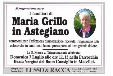 Maria Grillo in Astegiano