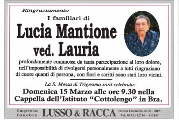 Lucia Mantione ved. Lauria