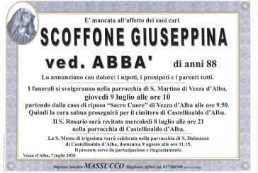 Giuseppina Scoffone ved. Abbà