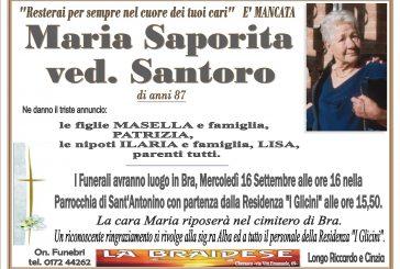 Maria Saporita ved. Santoro
