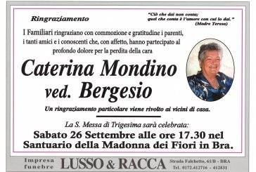 Caterina Mondino ved. Bergesio