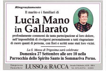 Lucia Mano in Gallarato