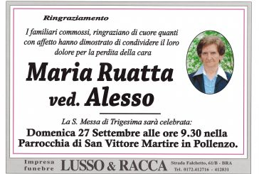 Maria Ruatta ved. Alesso