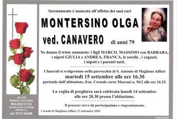 Olga Montersino ved. Canavero
