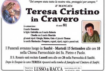 Teresa Cristino in Cravero