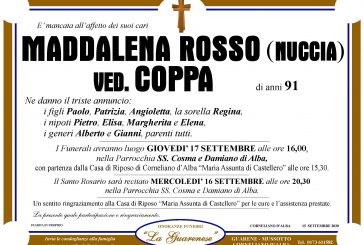 Maddalena Rosso (Nuccia) ved. Coppa