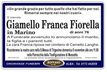 Franca Fiorella Giamello in Marino