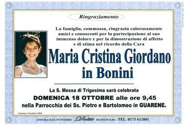 Maria Cristina Giordano in Bonini
