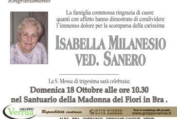 Isabella Milanesio ved. Sanero