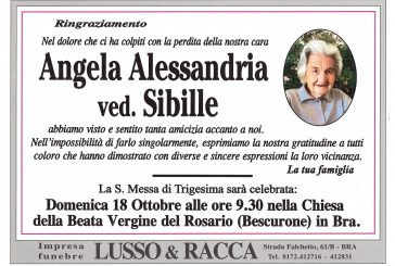 Angela Alessandria ved. Sibille