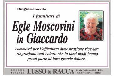 Egle Moscovini in Giaccardo