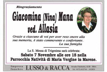 Giacomina (Nina) Mana ved. Allasia