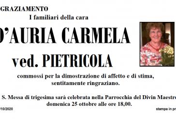 Carmela D'Auria ved. Pietricola