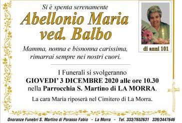 Maria Abellonio ved. Balbo