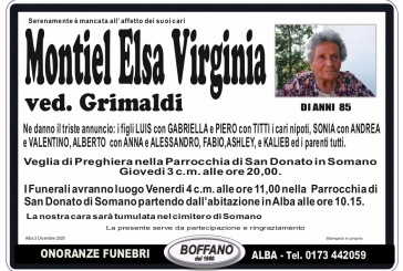 Elsa Virginia Montiel ved. Grimaldi
