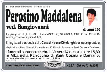 Maddalena Perosino ved. Bongiovanni