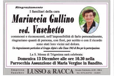 Mariuccia Gullino ved. Vaschetto