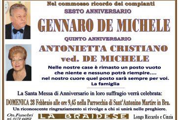 Gennaro De Michele e Antonietta Cristiano ved. Demichele