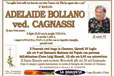 Adelaide Bollano ved. Cagnassi