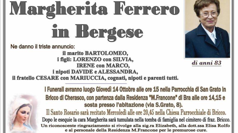 Margherita Ferrero in Bergese