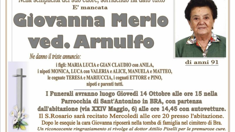 Giovanna Merlo ved. Arnulfo