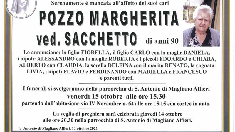 Margherita Pozzo ved. Sacchetto