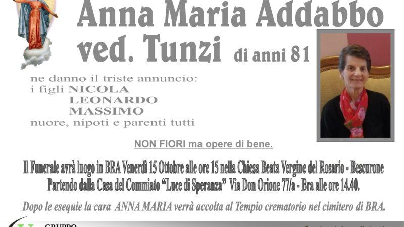 Anna Maria Addabbo ved. Tunzi